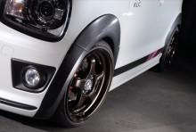 【販売終了】ワイドフェンダー9 【カーボン調】 スズキ アルトワークス/アルト ターボRS HA36S ※2WD/4WD装着可 ※沖縄・離島配送不可 T-2W [SLK60L-O43C-01]