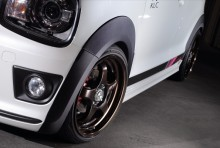 ワイドフェンダー9 【シボ黒】 スズキ アルトワークス/アルト ターボRS HA36S ※2WD/4WD装着可 ※沖縄・離島配送不可 T-2W [SLK60L-O43S-01]