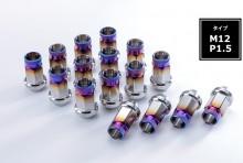 チタンナット 貫通タイプ M12 P1.5 38mm (汎用品) [SPNUT-M1215-01]