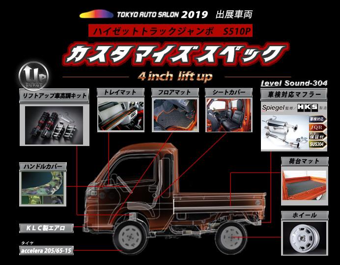 Spiegel (シュピーゲル) オートサロン 2019 出展車輌 カスタマイズ ハイゼットトラックジャンボ S510P
