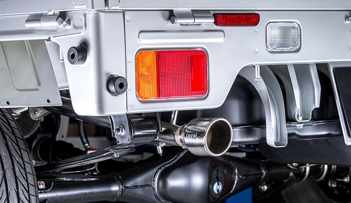 Spiegel (シュピーゲル)LS-304 (レベルサウンド304) 軽トラック専用車検対応マフラー装着イメージ画像