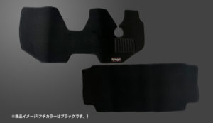 フロアマット スバル サンバーバン TV1TV2 MT専用 (フチカラー:ブラック) 商品画像